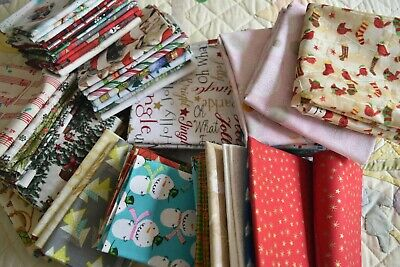AU3.60 • Buy Christmas Fat Quarters F/Q Patchwork And Quilting Fabric All Different