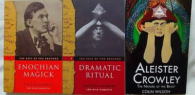 £50 • Buy ALEISTER CROWLEY Enocian Magick Dramatic Ritual C WILSON The Nature Of The Beast