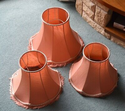 £7.99 • Buy 3 Decorative Lampshades With Fringes In A Terracotta Colour.