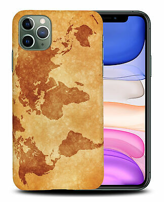 £5.14 • Buy Case Cover For Apple Iphone vintage World Map Geography #2