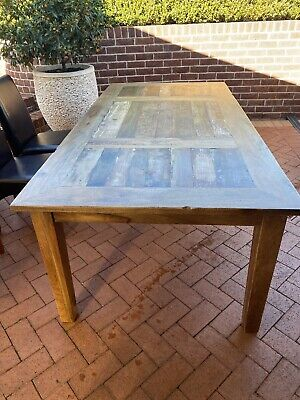 AU350 • Buy Dining Table With 6 Leather Chairs