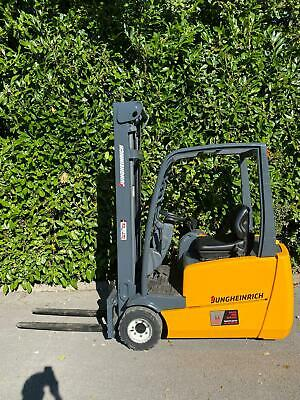 £4950 • Buy NOW SOLD! JUNGHEINRICH 1800KGS 3 WHEEL ELECTRIC FORKLIFT TRUCK 4m Mast