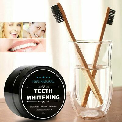 AU16.53 • Buy Charcoal Teeth Tooth Whitening Powder Natural Organic Toothpaste Toothbrush Oral