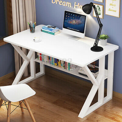 AU71.29 • Buy 80CM Computer Desk Study Home Office Table For Student White Metal Workstation