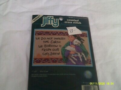 £3.10 • Buy NIP Sunset/Jiffy Counted Cross Stitch Kit-Our Children's Earth-Kit 16709