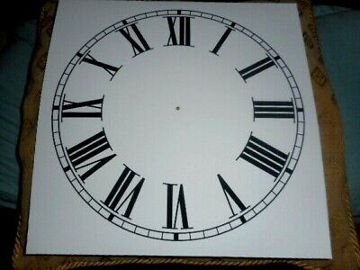£6.98 • Buy Large PAPER (CARD) Clock Dial/Face - 12  MINUTE TRACK - Roman - MATTE WHITE