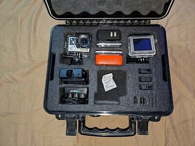 AU269.38 • Buy TWO GoPro HERO 4 Black Camera Bundle W 1 Touch Screen - Batteries NO SD CARDS