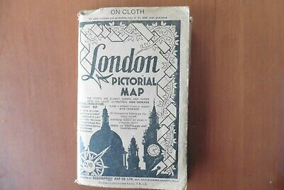 £10 • Buy London Pictorial Map On Cloth.(vintage)