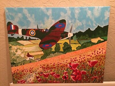 £15 • Buy Spitfire Abstract Oil Painting On Canvas
