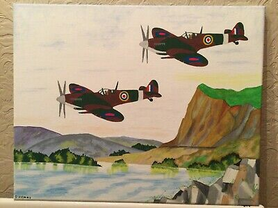 £15 • Buy Spitfires Abstract Oil Painting On Canvas