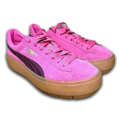 AU59.95 • Buy Puma Womens Suede Pink Sneakers Size US 6 UK 3.5