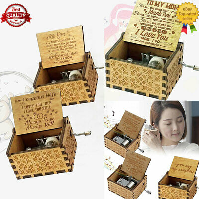 £2.23 • Buy You Are My Sunshine-Wooden Music Box To Daughter/Mum/DAD/Son/Sunshine/Wife Hot.