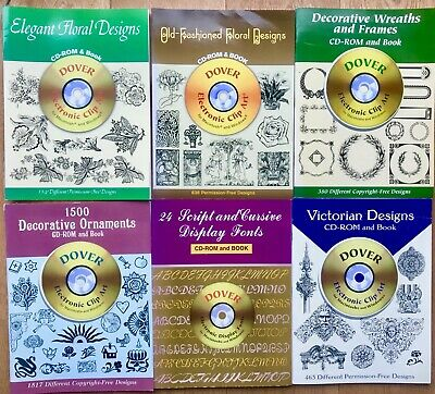 AU55.62 • Buy 6 X Dover Free Pictorial Archive And Pictorial Catalogues With CD-ROM Archives