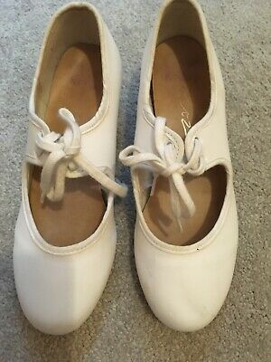 £2.50 • Buy White Tap Shoes Dance Tap Shoes White Girls Size 2.5