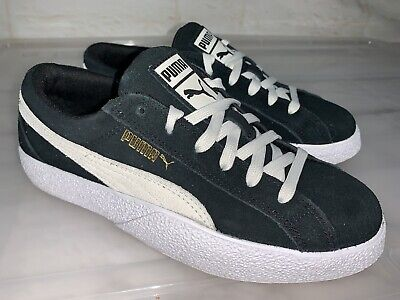 AU35 • Buy PUMA Love Suede Black White Leather Sneakers US 7 #22777
