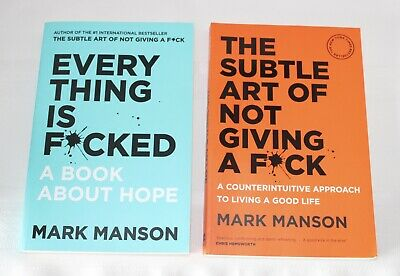 AU36.99 • Buy The Subtle Art Of Not Giving A F*ck & Everything Is F*cked By Mark Manson