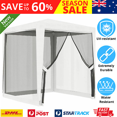 AU102.52 • Buy Gazebo With Insect Mesh Screen Net 2x2m Stylish Wedding Event Party Tent Shelter