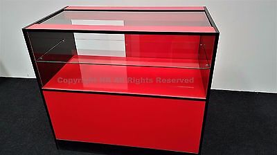 £320 • Buy  Glass Shop Counter RED AND BLACK GLOSS, TOP QUALITY,SLIDING DOORS LOCK