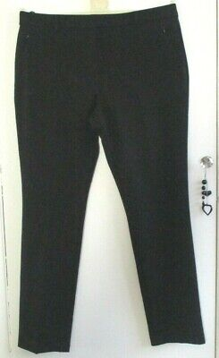 £15 • Buy M&s Size 16m Ladies Thick Stretch Black Straight Leg Trousers