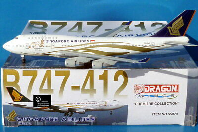 AU27 • Buy Dragon Wings Singapore Airlines B747-400 1:400 Scale Diecast Model Aircraft.
