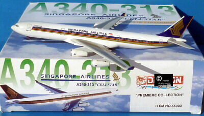 AU15.50 • Buy Dragon Wings Singapore Airlines  A340-300 1:400 Scale Diecast Model Aircraft.
