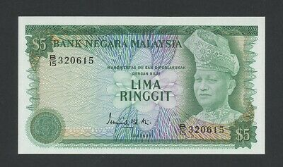 £185 • Buy MALAYSIA  $5 1976  Krause 14a  Uncirculated Banknotes