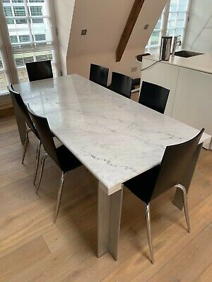 £250 • Buy Marble Dining Table And 7 Starck Chairs