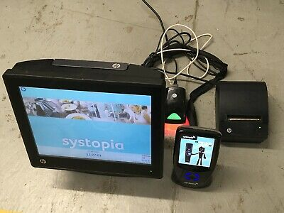 £450 • Buy Hp Retail System Pos Till System Computer Printer Barcode QR Scanner + 2 Display