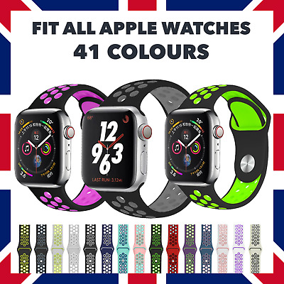 AU8.08 • Buy For Apple Watch Nike Sport Strap Band Series 3 4 5 6 7 SE | 38 40 42 44mm