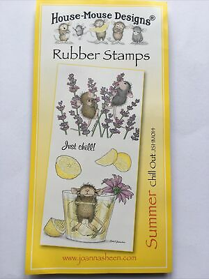 £12.50 • Buy Joanna Sheen House Mouse Rubber Stamp Set - Summer - Chill Out - New