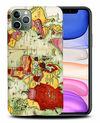 £5.14 • Buy Case Cover For Apple Iphone old World Map Sketch Art #1
