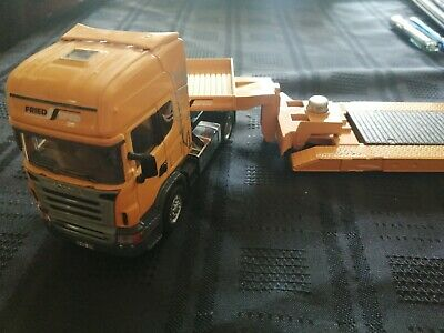 £24 • Buy Unboxed Siku 1:50 Scale Diecast Scania Truck  And Low Loader Trailer VGC