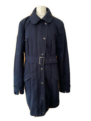 £24.99 • Buy Next Coat Size 16 Tall Fully Lined Buckle Belt Navy Cotton Blend Quality