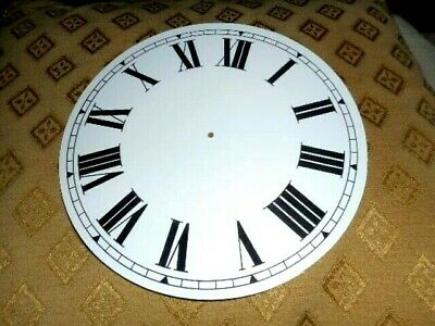£4.30 • Buy Round PAPER (CARD) Clock Dial/Face - 7 1/4  MINUTE TRACK - Roman -WHITE GLOSS