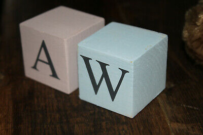 £3 • Buy Letter Blocks, Wooden Shabby Chic. Handmade In UK Size 45x45mm (2x2in) Approx