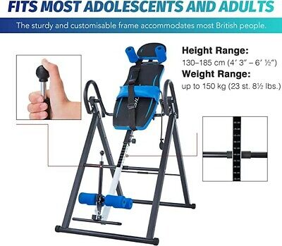 £50 • Buy Foldable Inversion Table, Suspension Stretcher With Lumbar And Ankle Support