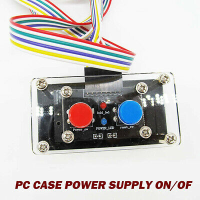 £9.90 • Buy Desktop Computer PC Case Power Supply ON/OFF Reset Button Switch With LED Light