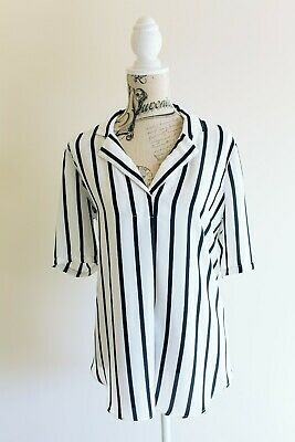 AU16 • Buy Witchery Blouse, Black And White Striped Size 12