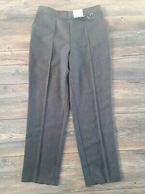 £2.99 • Buy M&S Classic Brown Straight Leg Trousers Size 10 Short Bnwt
