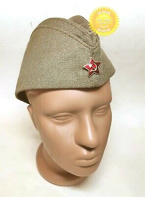 £7.25 • Buy Pilotka Soldier Military Cap Garrison Hat Soviet Russian Army Size 56 Used