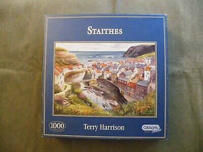 £0.99 • Buy 1000 Pce Gibson Jigsaw -  Staithes  By Terry Harrison