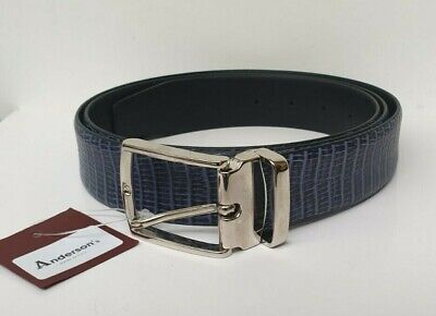 £25.95 • Buy ANDERSON'S SNAKESKIN EFFECT CALF LEATHER BELT MADE IN ITALY - NEW - SIZE 120cm