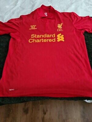£29.99 • Buy Liverpool Standard Chartered Warrior Home Red Shirt 2014/15 Large