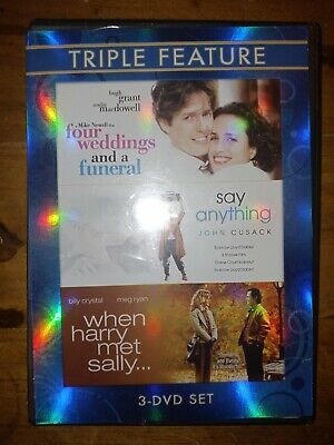 AU5.33 • Buy Four Weddings And A Funeral Say Anything When Harry Met Sally Triple Feature Dvd