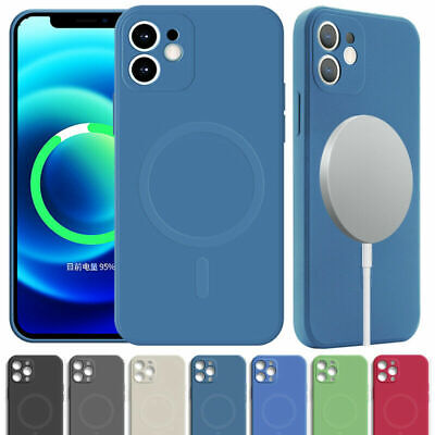 £3.99 • Buy Liquid Silicone Case Cover + Magnetic Mag Safe For IPhone 13 12 11 Pro Max XS XR