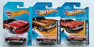 AU7 • Buy Hot Wheels '07 Ford Mustang, '67 Ford Mustang Coupe, '70 Mustang Mach 1