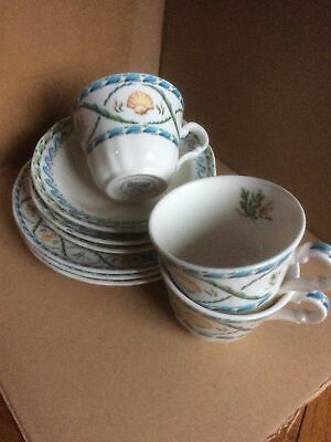 £14.95 • Buy ROYAL DOULTON FINE CHINA EVERYDAY 'Coral Reef' Cup, Saucer & Plate.....x 3 Sets