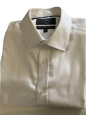"""£5 • Buy M&S Slim Fit Non-Iron Double Cuff Shirt 15.5"""" 39-40"""