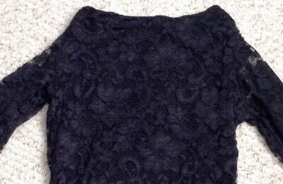 £9 • Buy Womens Black Lace Bodycon Dress In Topshop Concessions Size 8