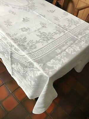 £19.99 • Buy V. LARGE 94x72 Approx. VINTAGE FRENCH DAMASK TABLE CLOTH
